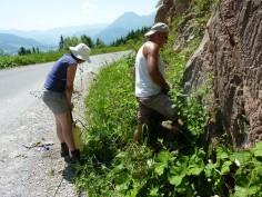 Campionamento per mezzo di perforatore munito di carotiere e raffreddato ad acqua di rocce sedimentarie. Austria (foto Jaume Dinarès-Turrel)