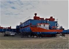 La barca per i campionamenti in mare. Foto di P. Bagiacchi, ©PNRA