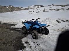 Il quad in base. Foto di P. Bagiacchi. ©PNRA