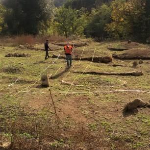 Misure geofisiche con tecnica magnetica nel sito archeologico di Grotte di Castro (VT) . Foto di V. Sapia © INGV